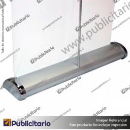PORTA-PENDON-ROLLER-PRO-BASE-COLOR-ALUMINIO-80x200-CMS