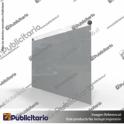 PORTA-GRAFICA-ACRILICO-A3-FORMATO-MURO-HORIZONTAL-2MM---SET-EMBELLECEDORES